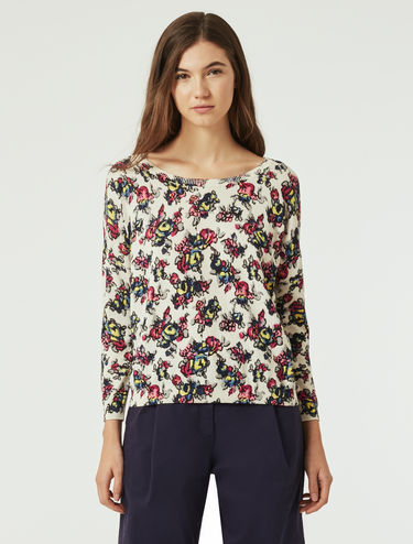 Floral pattern sweater