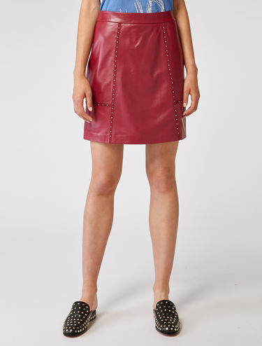 Nappa skirt with studs