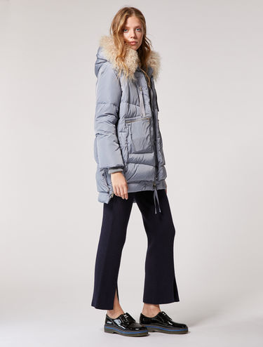 Multi-zip down jacket with overlays