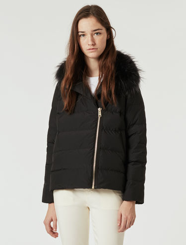 Soft A-line down jacket