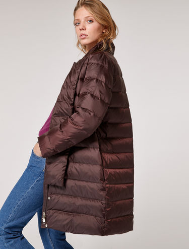 Down jacket with scarf collar