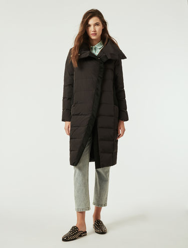 Nylon and cloth down jacket