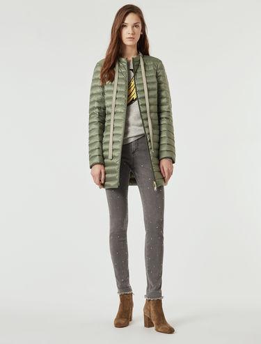 Lightweight slim-fit down jacket
