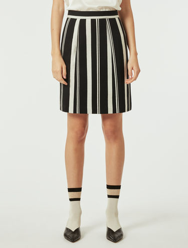 Jacquard jersey A-line skirt