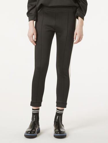 Skinny fit jersey trousers