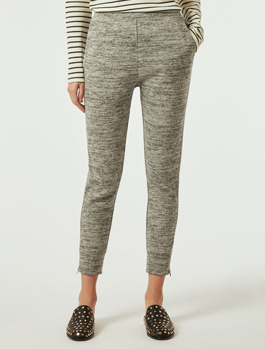 Mouliné jersey trousers