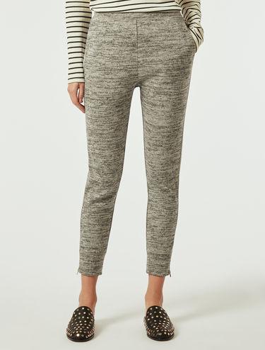 Pantalon en jersey mouliné