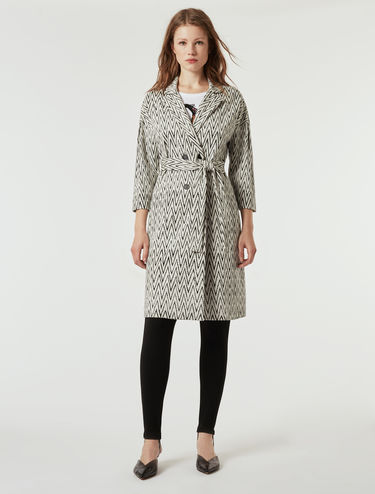 Cappotto in jersey jacquard