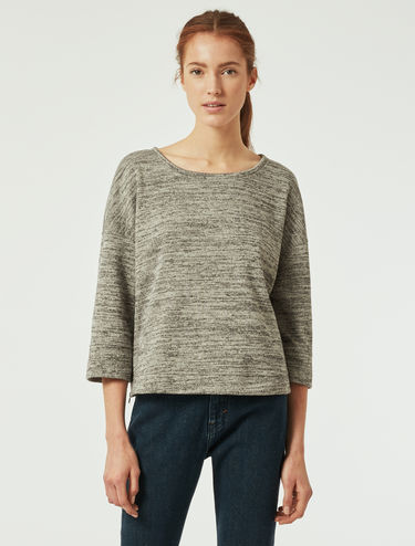 Felpa in jersey mouliné