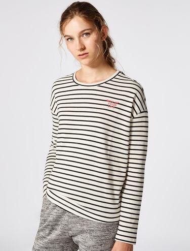 T-shirt en coton à rayures