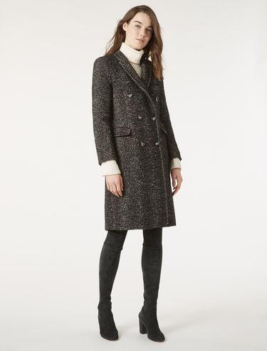 Chevron bouclé coat