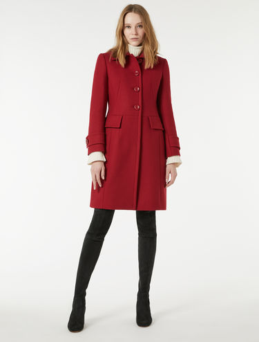 Slim double cloth coat