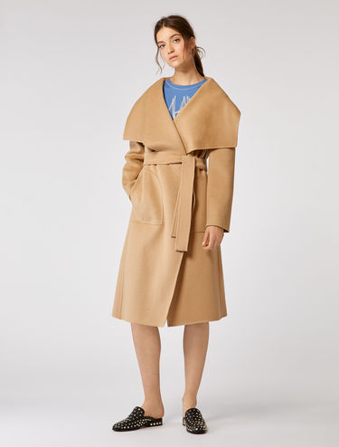 Coat in double wool/cashmere