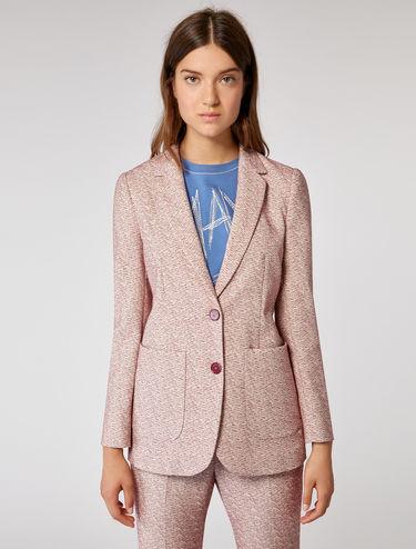 Jacquard fabric blazer