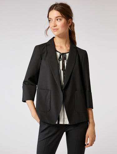 Light stretch wool jacket