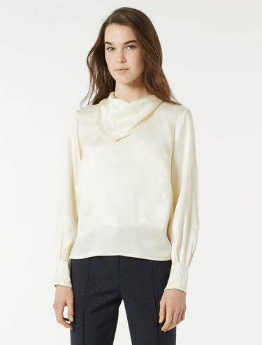 Floaty twill blouse