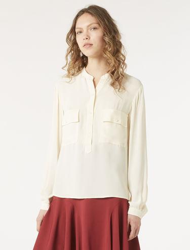 Floaty crêpe shirt