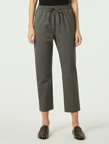 Stretch wool trousers