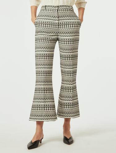 Jacquard fabric trousers