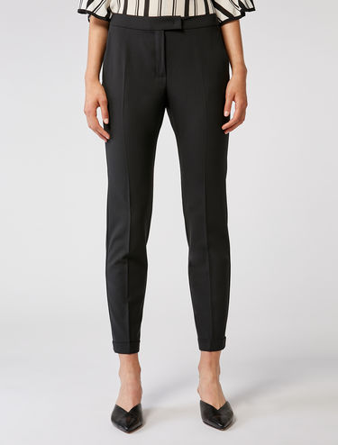 Light stretch wool trousers