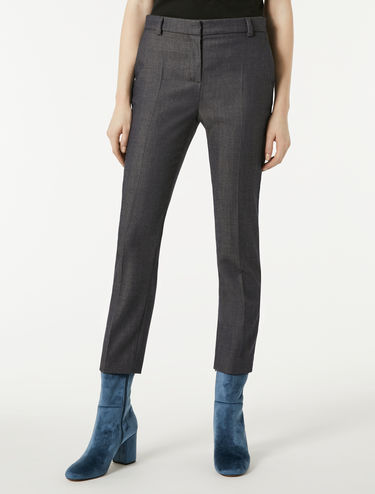 Pantaloni slim in denim di lana