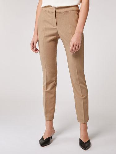 Pantalon slim en batavia
