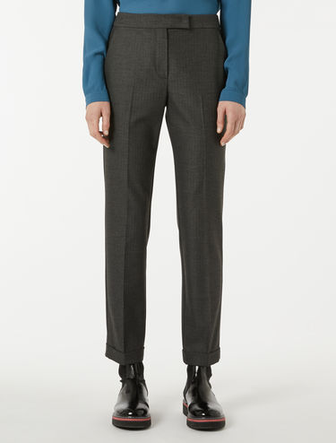 Slim-fit micro-patterned trousers