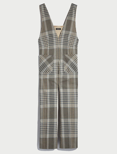 Batavia jumpsuit with check pattern