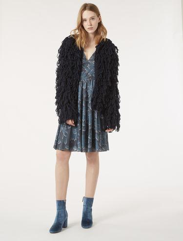 Fur-stitch cardigan