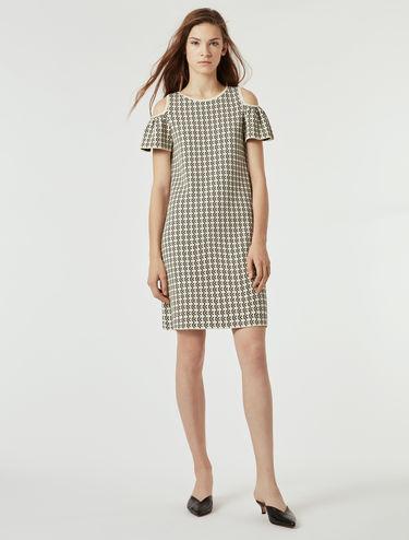 Jacquard jersey A-line dress