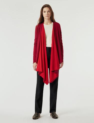 Cardigan in lana bicolore