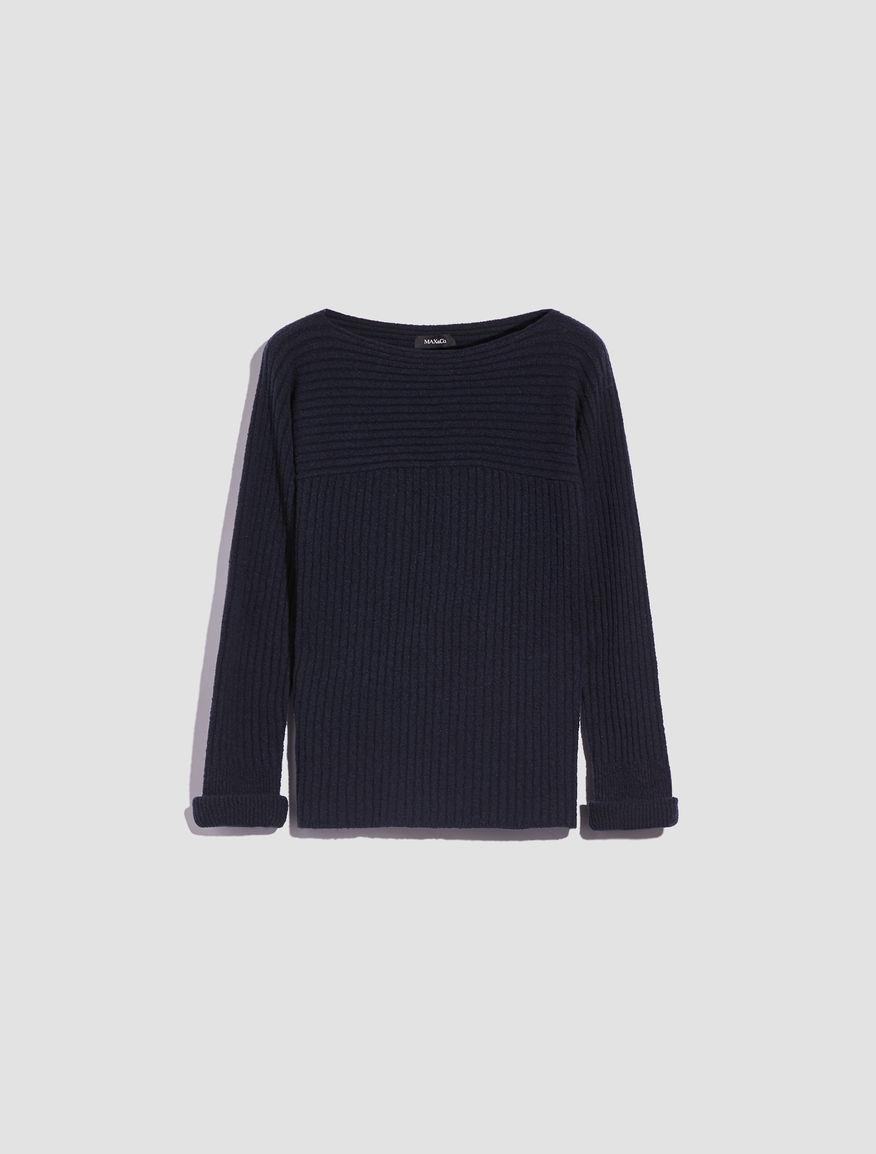 e7ca5114252 Ribbed bouclé sweater