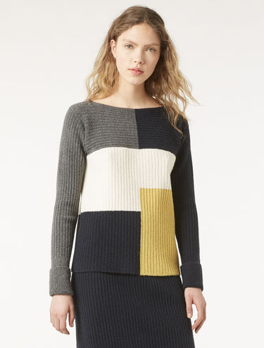 Ribbed bouclé sweater