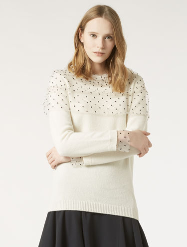 Sweater with tulle details