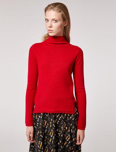 High neck cashmere jumper