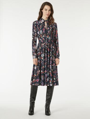 プリント ジャージー シルク ドレス