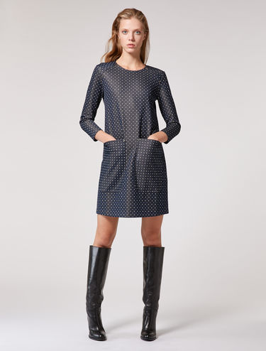 Jacquard jersey tunic dress
