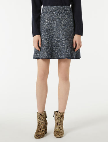 A-line jersey tweed skirt