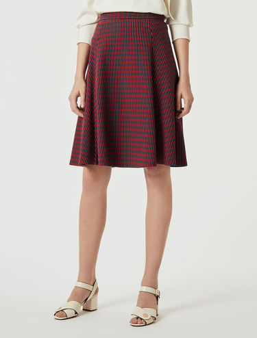 Ottoman jersey, A-line skirt