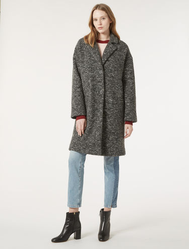 Cappotto in jersey tweed