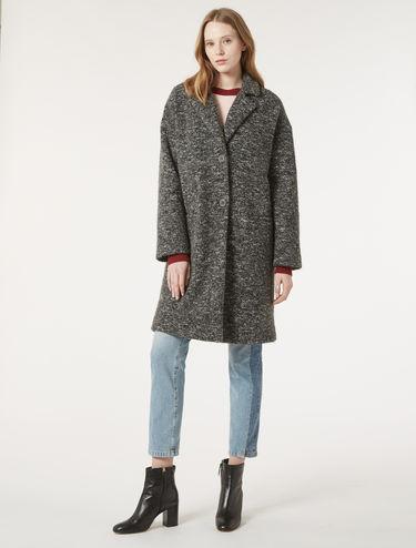 Tweed jersey coat