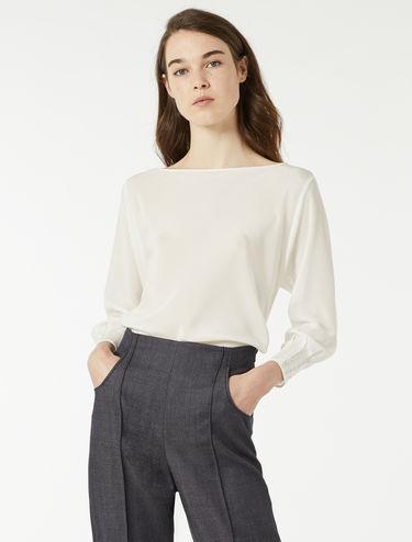 Blouse en soie et jersey