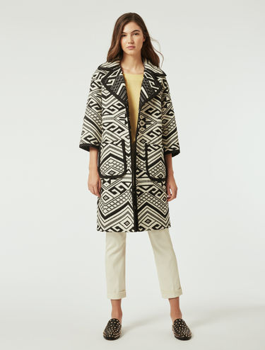 Jacquard cotton coat