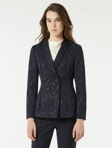Lamé jacquard fabric blazer