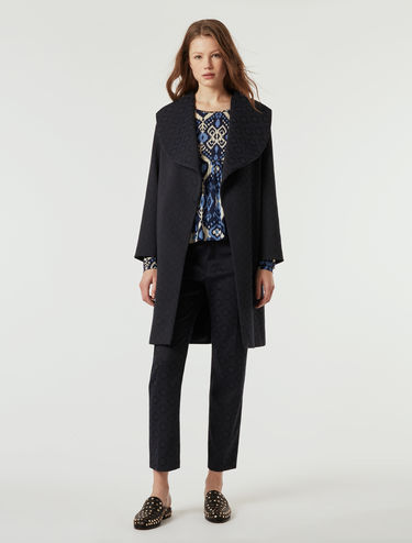 Overcoat in jacquard fabric