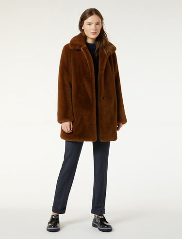 Plush fur coat