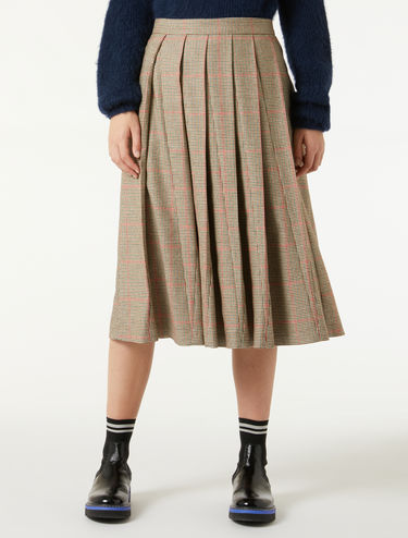 Houndstooth flannel skirt