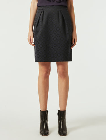 Jacquard fabric skirt