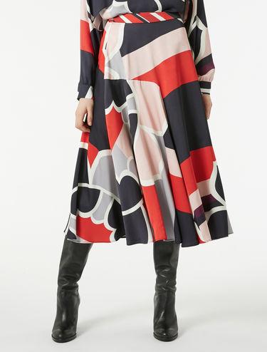 Satin circle skirt
