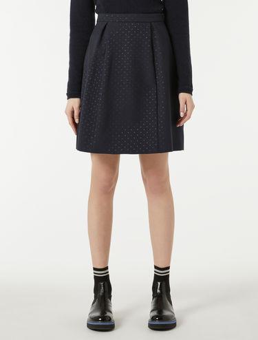 Lamé jacquard corolla skirt